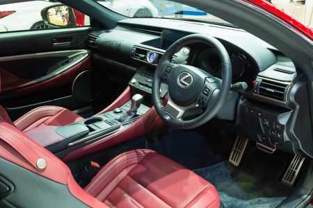 lexus: NONTHABURI - MARCH 23: Interior Design of NEW Lexus RC 200T on display at The 37th Bangkok International Motor show on MARCH 23, 2016 in Nonthaburi, Thailand. Editorial