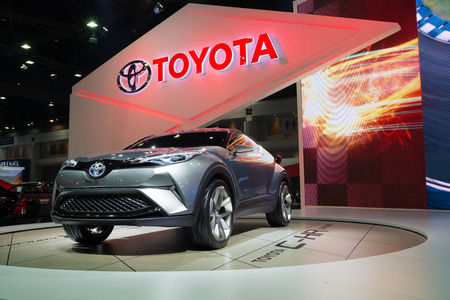 chr: NONTHABURI - MARCH 23: NEW Toyota CH-R Concept on display at The 37th Bangkok International Motor show on MARCH 23, 2016 in Nonthaburi, Thailand.
