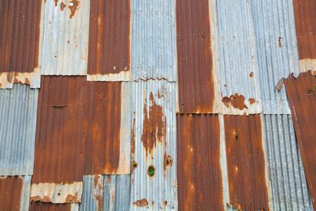 Abandoned Wall of Rusty Iron Galvanized with Zinc as Vintage Texture Background Zdjęcie Seryjne