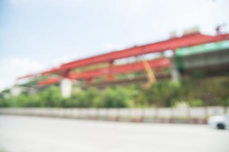 Abstract Blur or Defocus background or Motorway or Highway Construction site Zdjęcie Seryjne