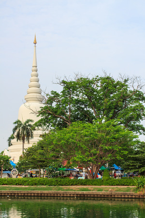 The pagoda in temple thailand. Wat Phra Si Mahathat.