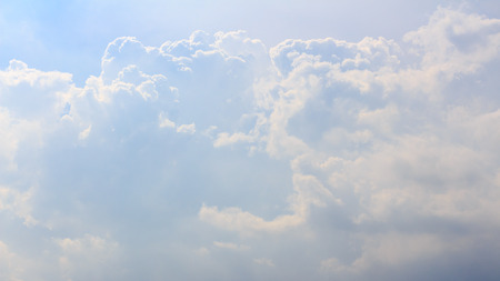 forcast: Cloudy Blue Skies  Beautiful Cloudy Blue Sky Stock Photo