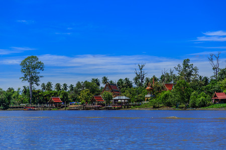 klong: Mea klong river in Thailand Stock Photo