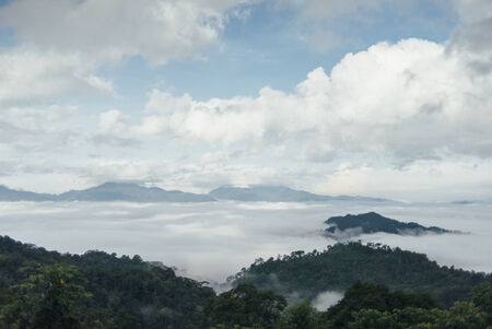 Cloud inversion and fog