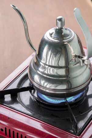 boil water: Boiling Kettle on Gas Stove, Boil Water