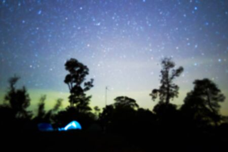 nightscape: Blurred nightscape backgrounds with amazing light from stars or milky way. Stock Photo