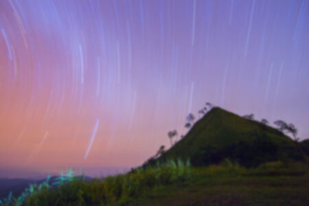 nightscape: Blurred nightscape backgrounds with amazing light from stars in the sky.