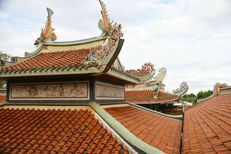 Roof temple, Kanchanaburi Province. Stock Photo - 6830468
