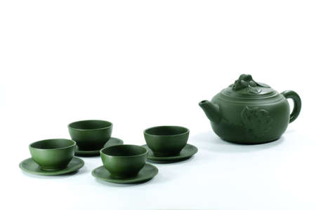 teapot and teacups made in China photo