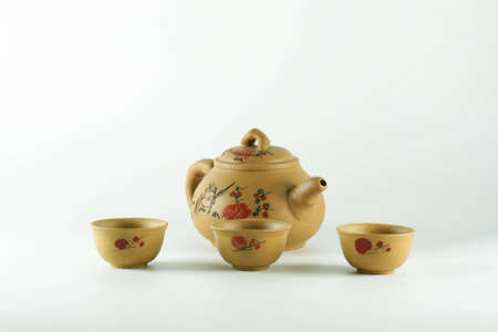 Cups and teapots from China. photo
