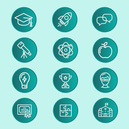 Infografía de educación sobre la plantilla de elementos de habilidades escolares para el concepto de graduación.Este proceso ayuda a crear una presentación visual.