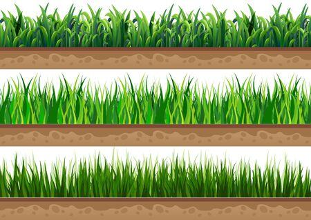 Rasen mit einem schönen natürlichen Boden. Wird für Vektorillustrationen verwendet Vektorgrafik