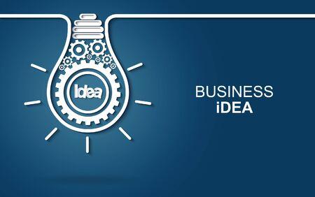creative idea concept. light bulb gear icon. Bright idea. business finance. Vector illustration