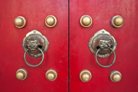 Red chines door photo