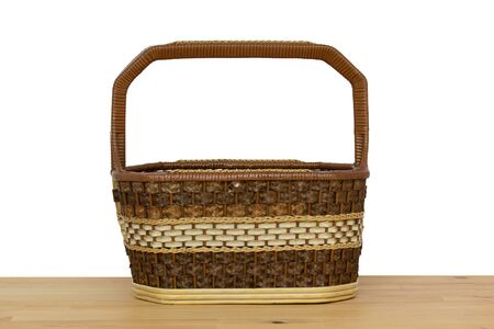 wicker: Brown wicker basket