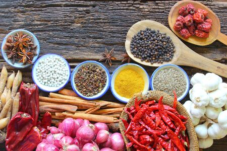 condiment: Spices is a natural Use condiment, Various type.