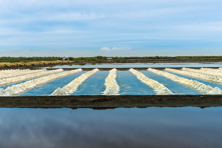 There are many salt farm in central region of Thailand and the most are in province near the sea.