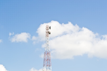 Phone antenna in open spaces. Stock Photo - 11170574