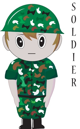 nice smile: soldier thailand Illustration