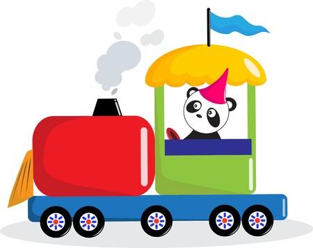 Panda drive train. Vector