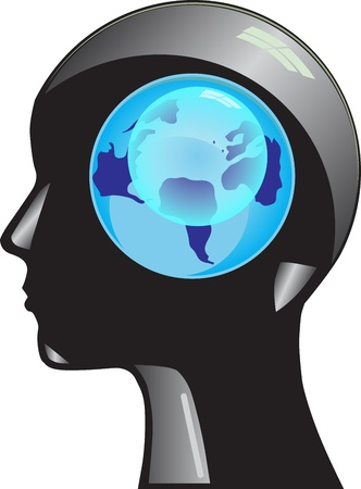 World on its head Vector