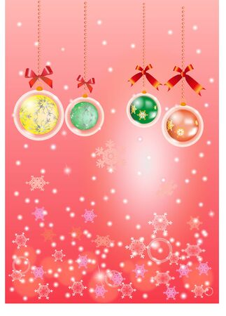 Pink chistmas background Stock Vector - 11664209
