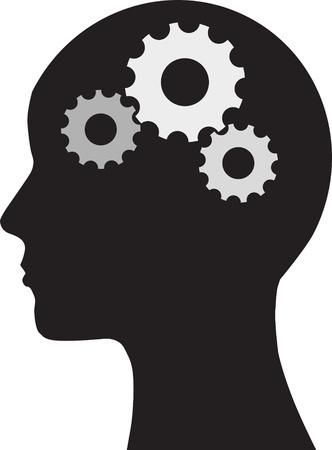 kopf: Der Mensch und Gehirn Illustration
