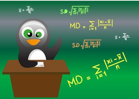 describe: penguin Illustration