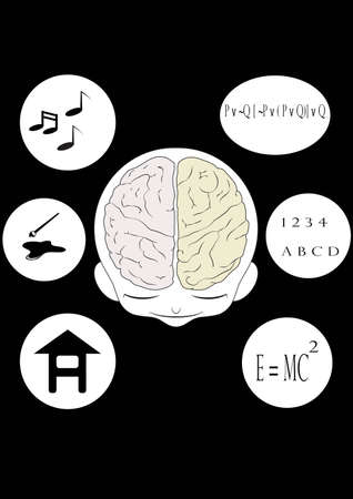 Man and  brain Vector