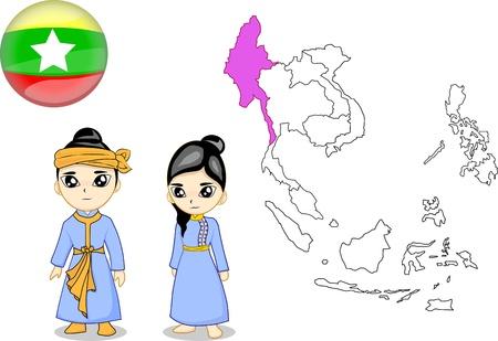 national costume: Myanmar