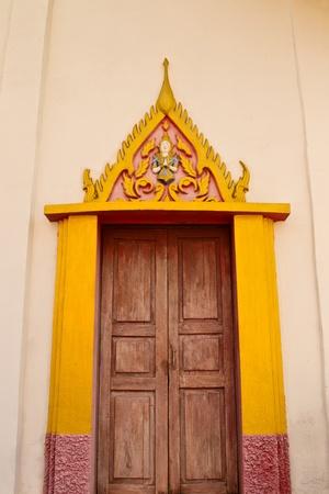 One door of the temple photo