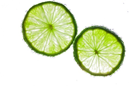 Lime in the water Stock Photo