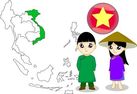 national costume: Vietnam Stock Photo