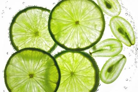 Lemon and grape juice Stock Photo - 13338080