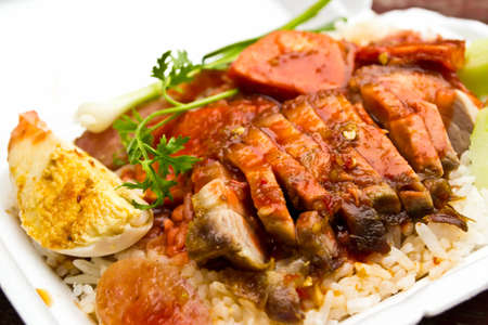 Rice with roasted pork  Stock Photo - 13955334