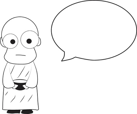 lowbrow: Monk Cartoon