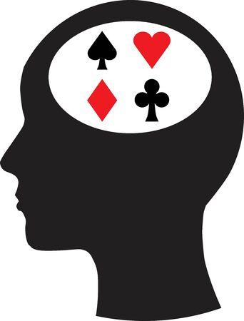 Man and thinking, and gambling