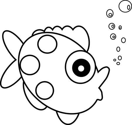 Fish eyes  paint by illustrator Vector