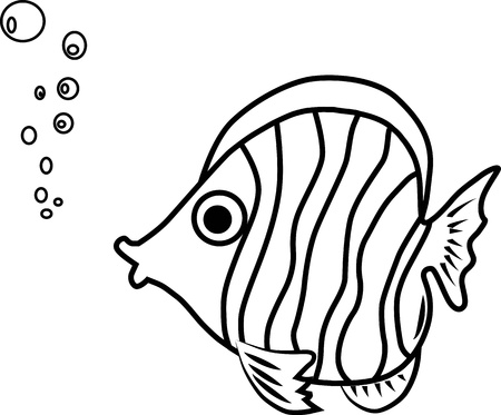 Fish paint by illustrator Vector