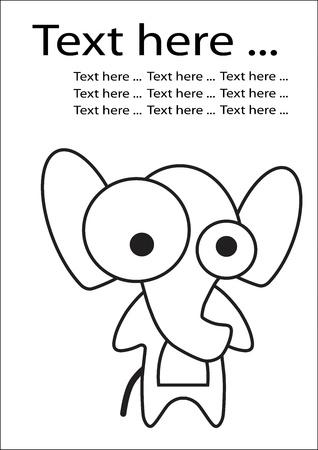 delineate: Elephant Illustration