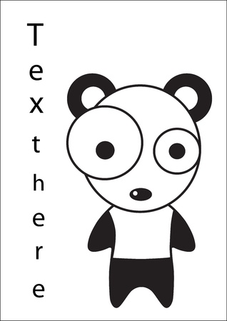 delineate: Panda cartoon Illustration