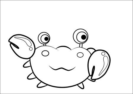 Crab cartoon vector Vector