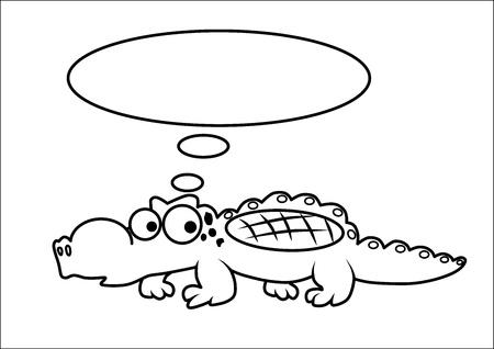 Crocodile cartoon vector Stock Vector - 15013748
