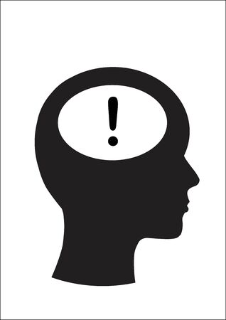 Man and thinking, Symbol exclamation Vector