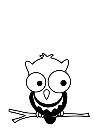Owl cartoon vector Vector