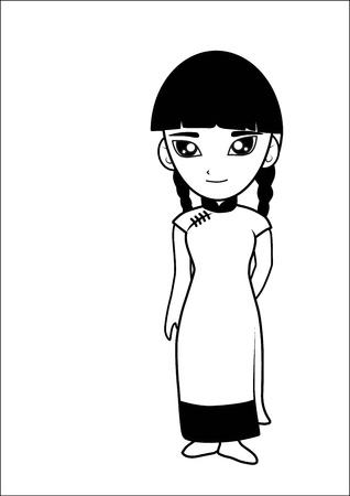 Mujeres de dibujos animados chino