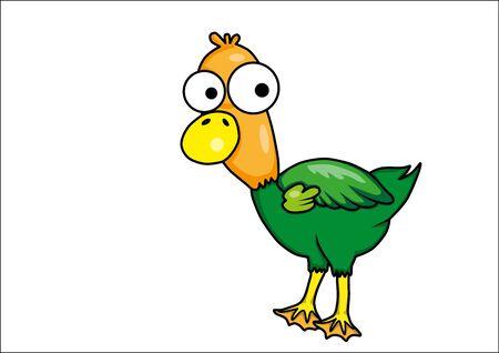 pato caricatura: Pato de la historieta Vectores