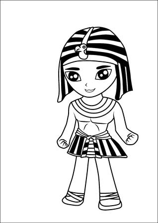 Hombres de dibujos animados egipcio
