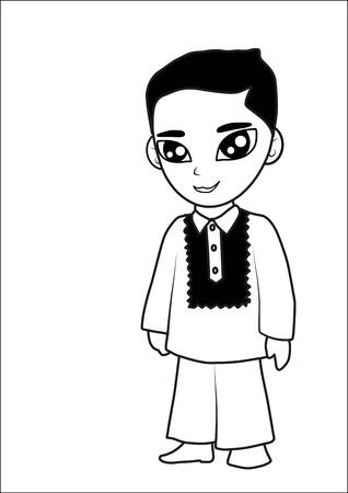 Caricatura del hombre de dibujos animados