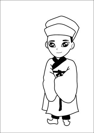 Men wear hats cartoon Stock Vector - 15247959